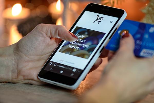 Afbeelding webshop op mobiel